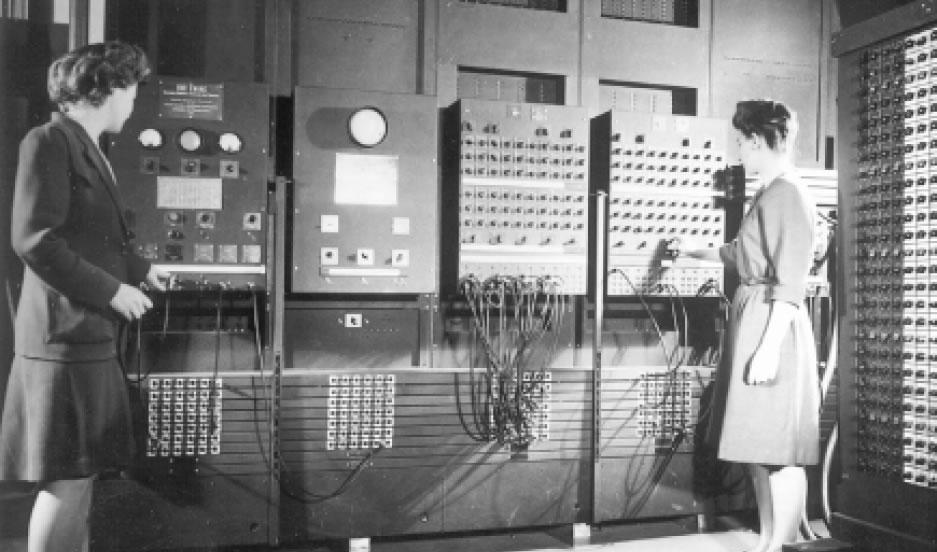 L'Eniac con le prime programmatrici dell'epoca